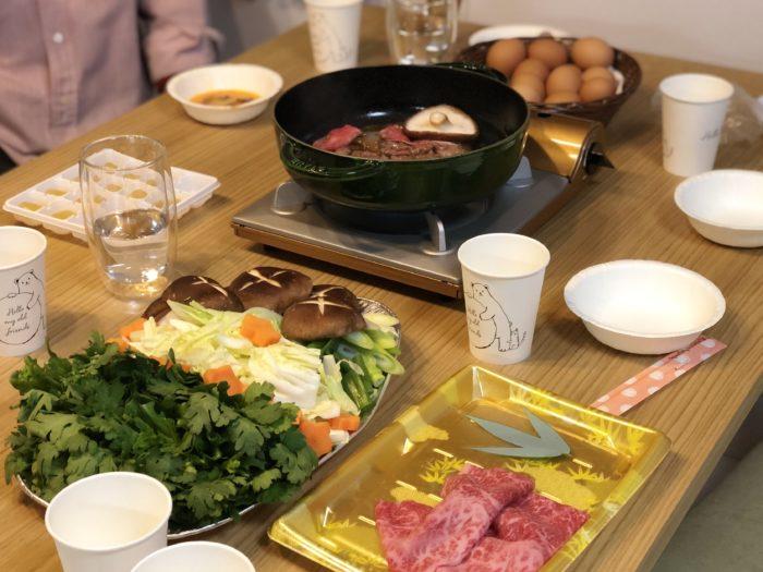 Bàn ăn Sukiyaki