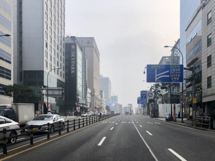 Buổi sáng Myeongdong